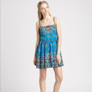 Nanette Lepore printed royal blue dress